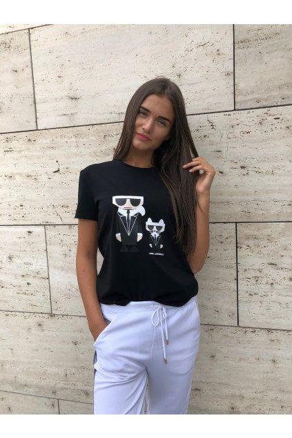 damske tricko karl lagerfeld karl choupette t shirt black eshopat cz 3