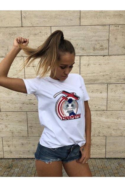 damske tricko karl lagerfeld choupette jets t shirt white eshopat cz 1