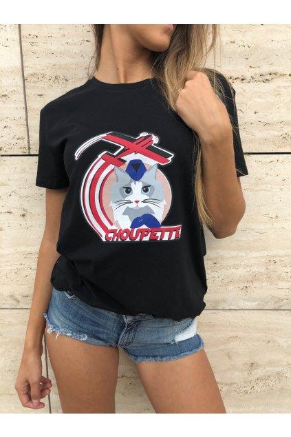 damske tricko karl lagerfeld choupette jets t shirt black eshopat cz 4