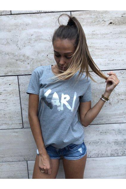 damske tricko karl lagerfeld graph t shirt grey eshopat cz 3