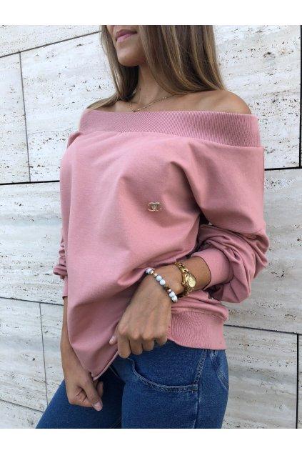 damska mikina luxury old pink eshopat cz 1