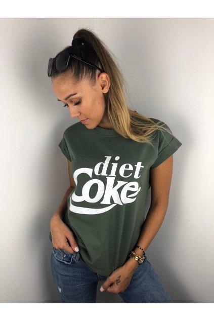 damske tricko diet coke khaki eshopat cz 1