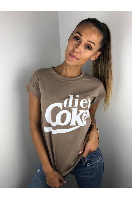 damske tricko diet coke dark beige eshopat cz 1