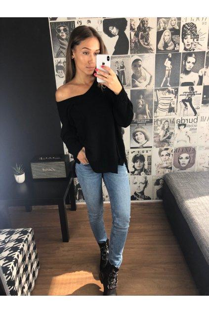 damsky svetr v neck pocket black eshopat cz 4