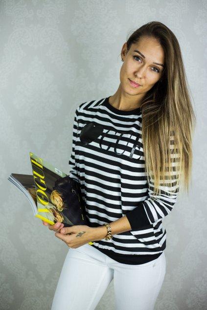 Dámské tričko VOGUE Stripe Black