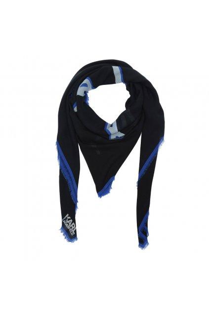 damsky satek karl lagerfeld signature scarf black eshopat cz 1