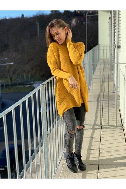 damsky svetr belli mustard eshopat cz 1