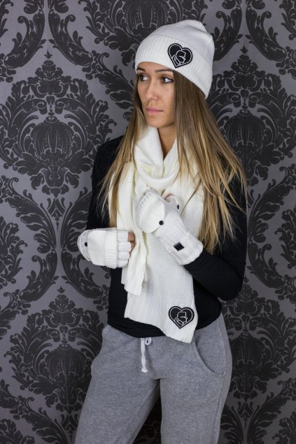 damsky set karl lagerfeld paris karl king of hearts cold weather set white eshopat cz 1