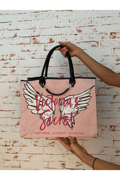 damska kabelka victoria s secret angel city tote pink wings eshopat cz 1