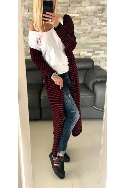 dlouhy svetr stripe red eshopat cz 4