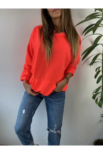 damska mikina classic neon orange eshopat cz 3