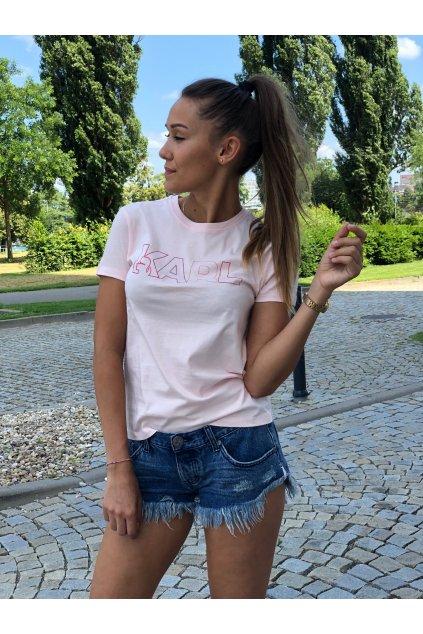 damske tricko karl lagerfeld karl shades logo tee rose eshopat cz 7