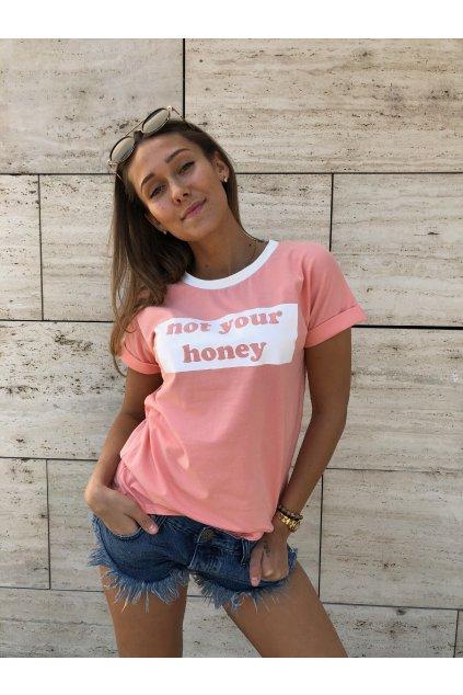 damske tricko not your honey light pink eshopat cz 3