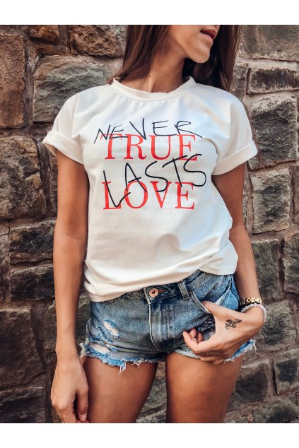 damske tricko never true lasts love white eshopat cz 6