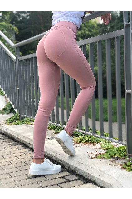 damske push up leginy powder pink eshopat cz 1