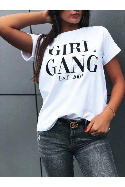 damske tricko girl gang white eshopat cz 1