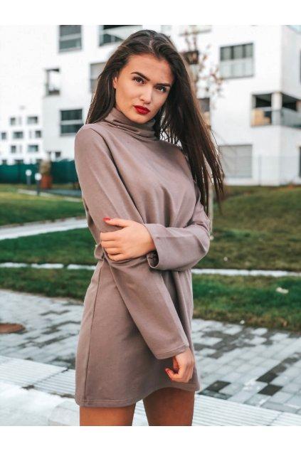 damske rolakove saty sofia coffee eshopat cz 1