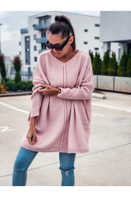 damsky svetr nelie powder pink eshopat cz 1