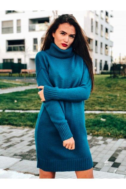 damske svetrove saty aria sea blue eshopat cz 1