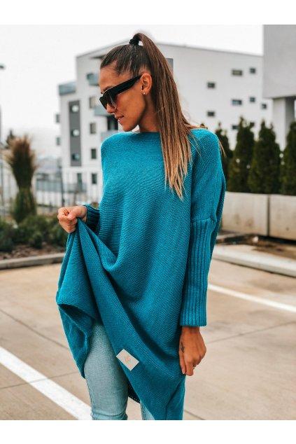 damsky svetr long sea blue eshopat cz 1