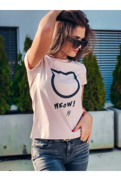 damske tricko karl lagerfeld choupette meow t shirt rose smoke eshopat cz 1