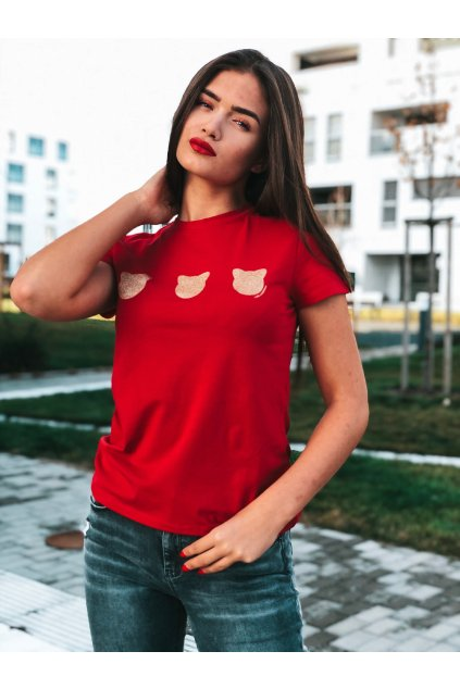 damske tricko karl lagerfeld coupette trio t shirt red eshopat cz 1
