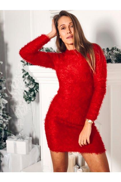 damske saty fluffy red eshopat cz 1