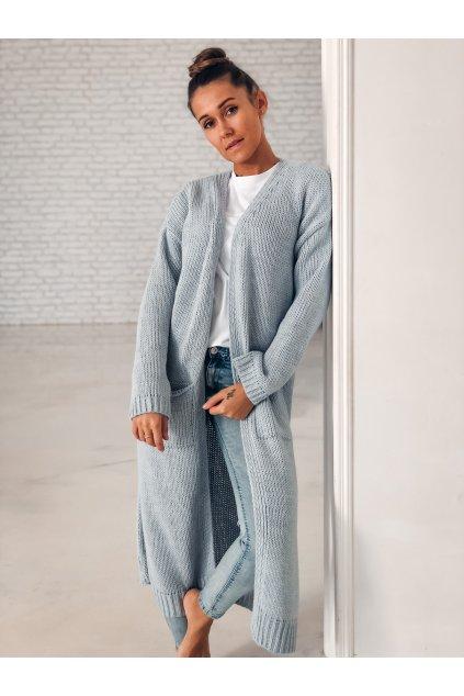 damsky cardigan long light blue eshopat cz 1