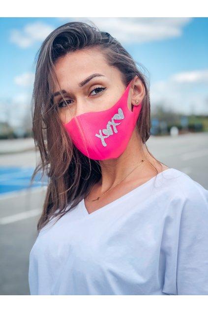 stylova rouska se trpytkami xoxo pink eshopat cz 2
