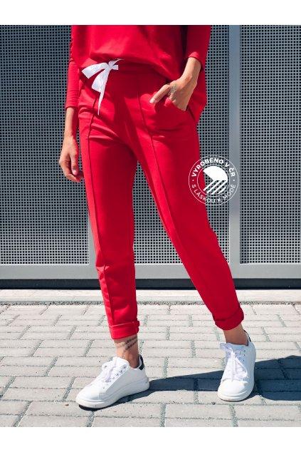 eshopat cz damske teplakove kalhoty red