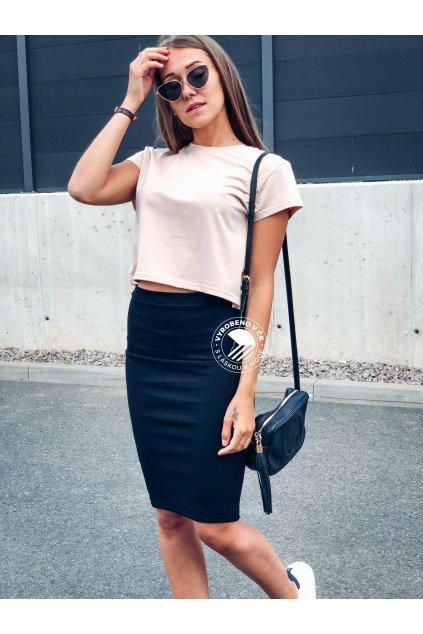 eshopat cz damska zebrovana sukne lisa black