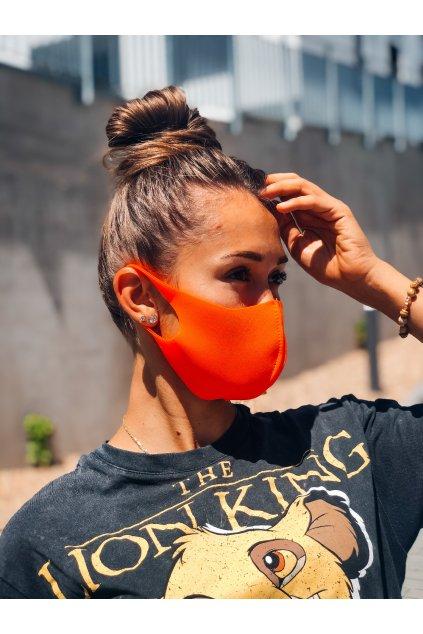 stylova rouska neon orange eshopat cz 1