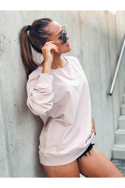damska mikina basic powder pink eshopat cz 1