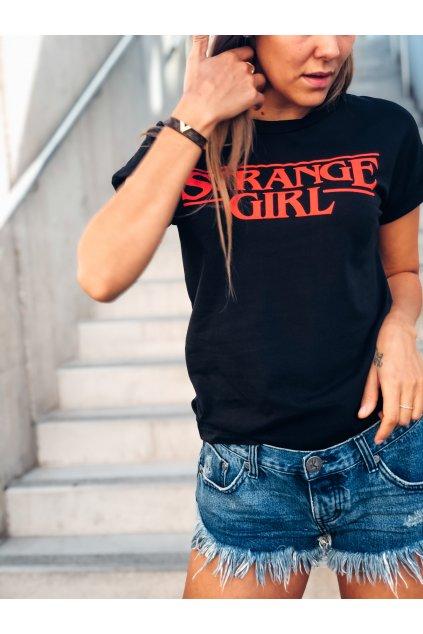 damske tricko strange girl black eshopat cz 2