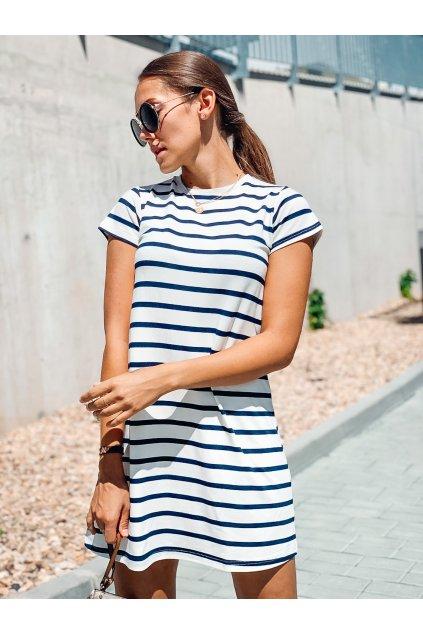 damske saty basic bamboo short sleeve stripe navy eshopat cz 1