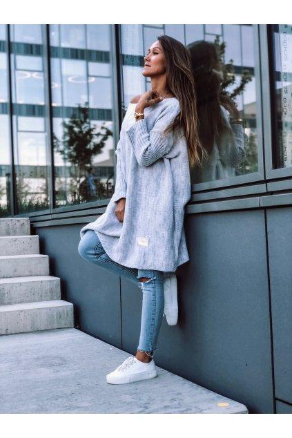 damsky svetr long grey eshopat cz 3