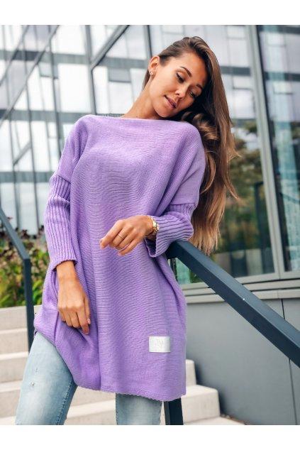 damsky svetr long lila eshopat cz 7