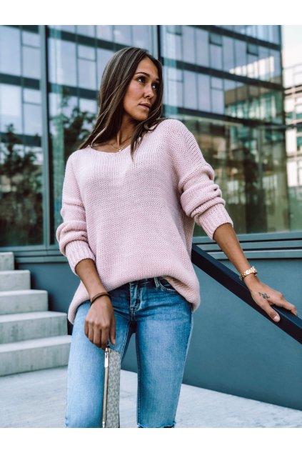 damsky svetr v classic powder pink eshopat cz 4