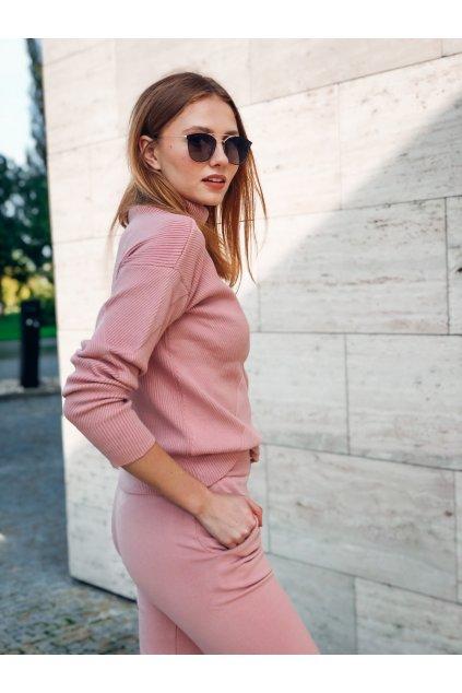 damsky upletovy komplet s rolakem madeira pink eshopat cz 1
