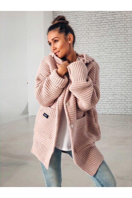 damsky cardigan maxi powder pink eshopat cz 3