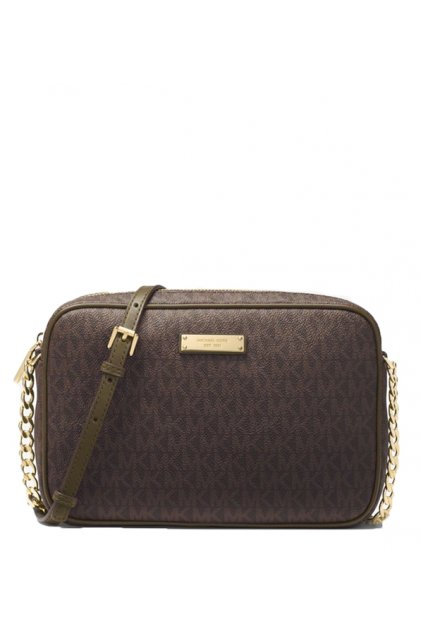 crossbody michael kors jet set travel large logo brown olive eshopat cz 1