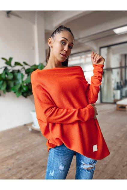 damsky svetr elene orange eshopat cz 1