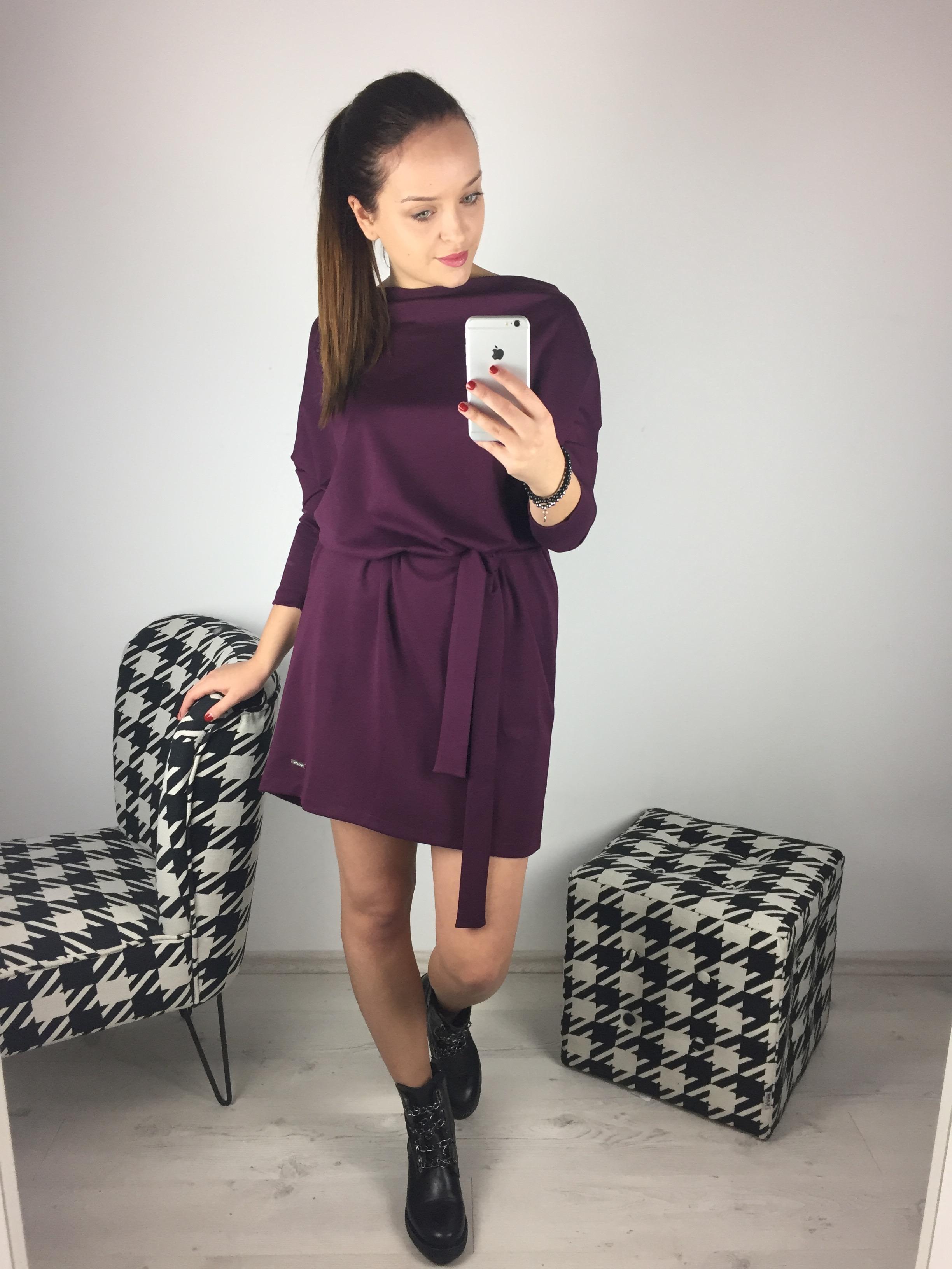 Eshopat Dámské šaty Isabella Dark Wine Velikost oblečení: UNI