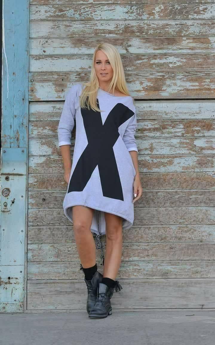 Eshopat Dámské šaty/tunika X Grey Velikost oblečení: UNI