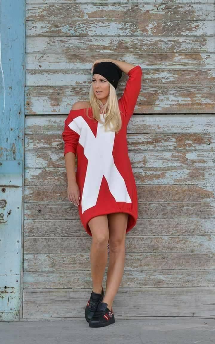 Eshopat Dámské šaty/tunika X Red Velikost oblečení: UNI