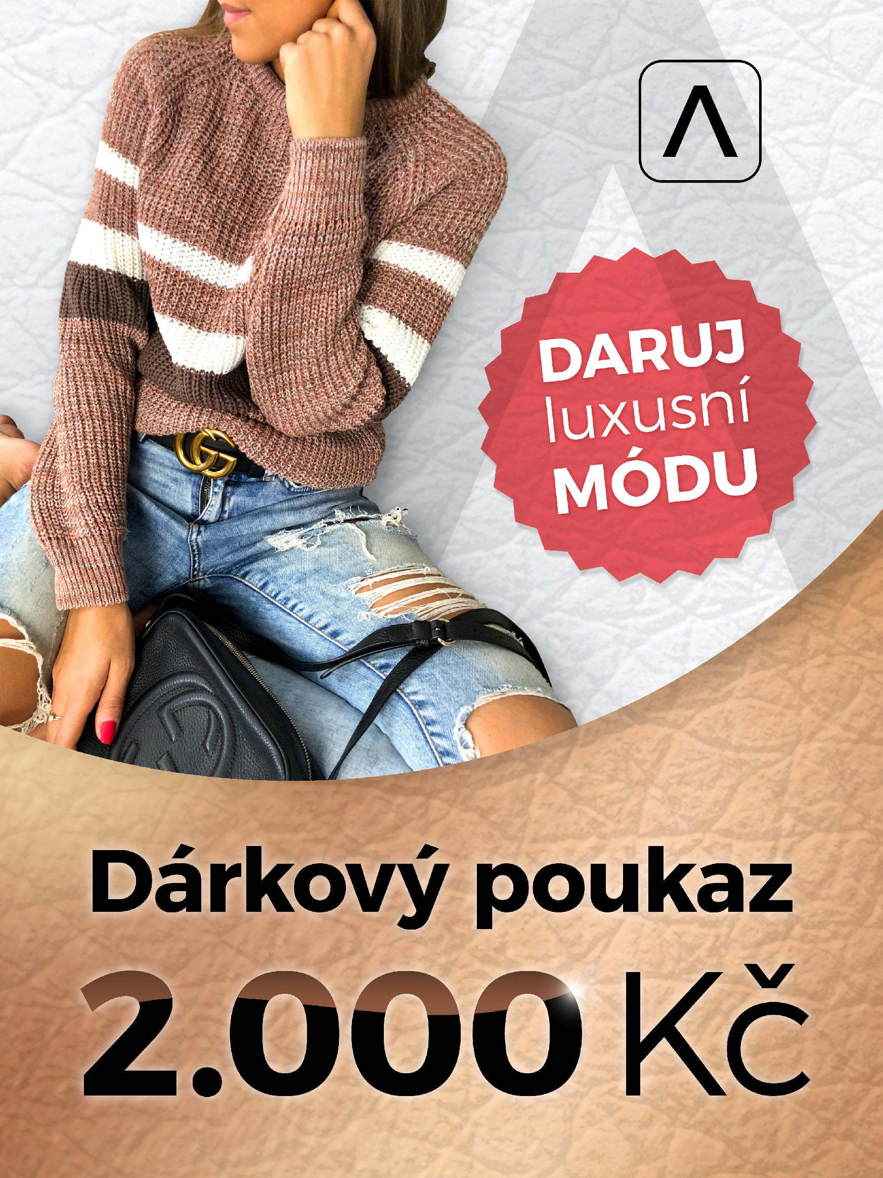 Eshopat Dárkový poukaz na luxusní dámskou módu v hodnotě 2000 Kč