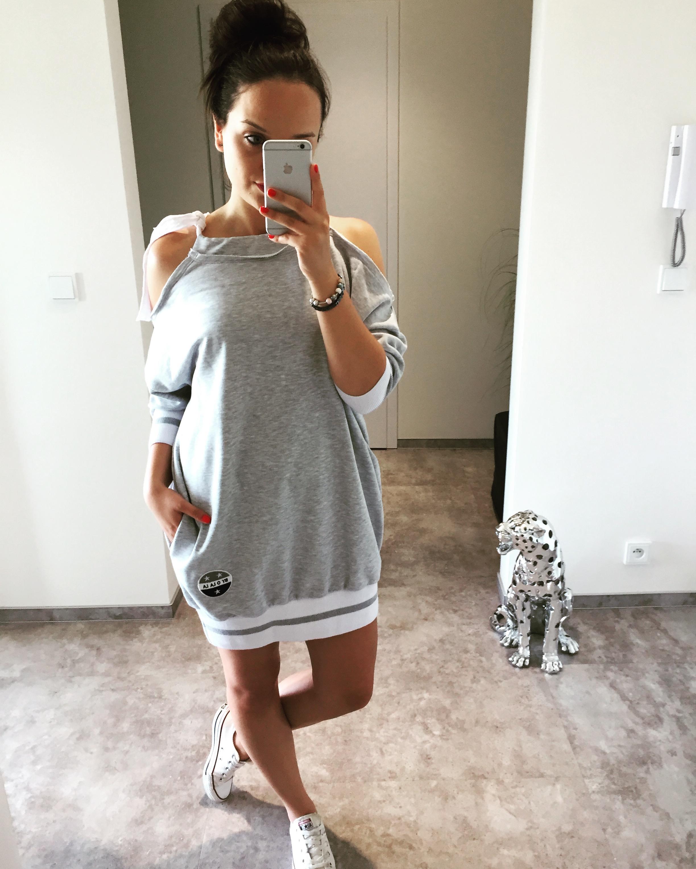 Eshopat Dámské šaty New York Grey Velikost oblečení: UNI