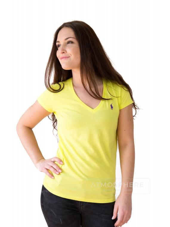 Dámské tričko Ralph Lauren Basic Vneck Yellow Velikost oblečení: XS