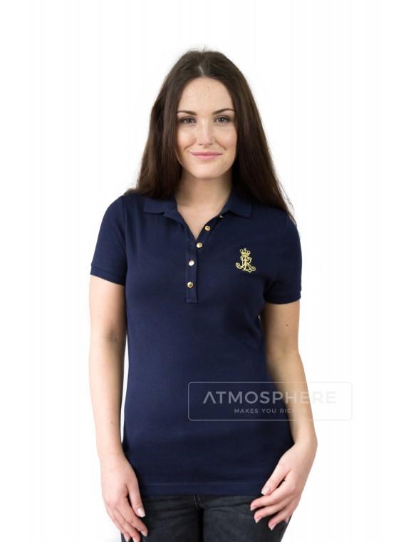 Dámské tričko Ralph Lauren Jenna Navy Velikost oblečení: S