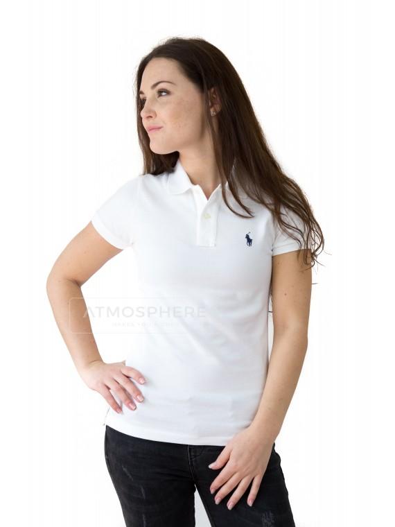 Dámské tričko Ralph Lauren Skinny Polo White Velikost oblečení: XL